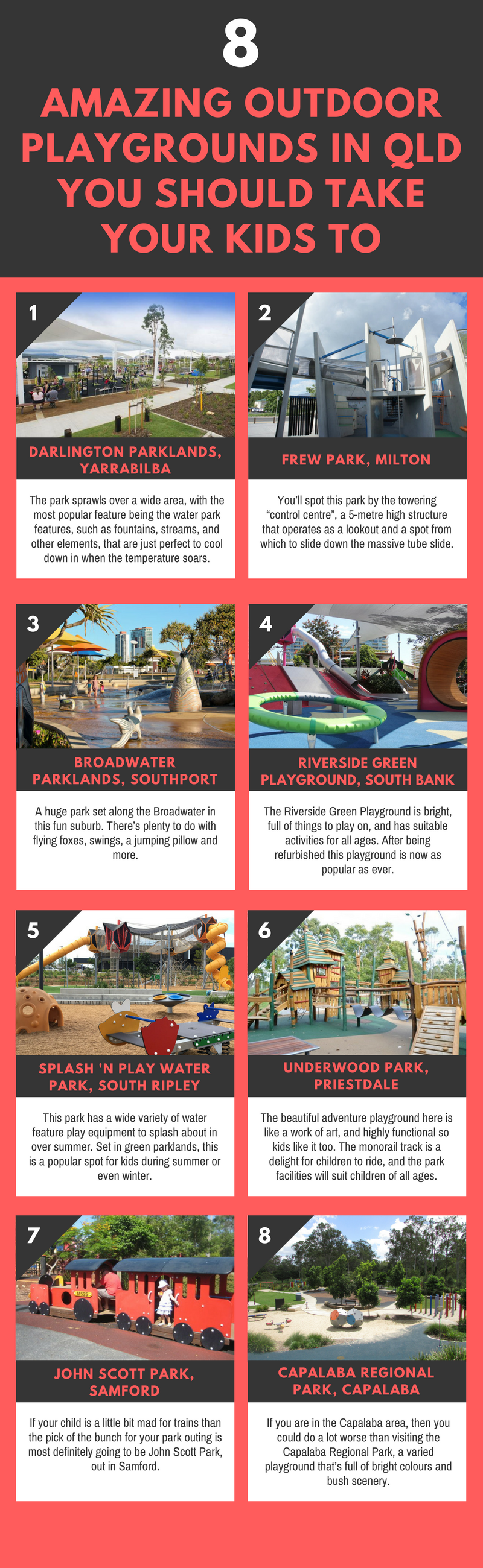 8 Amazing Outdoor Playgrounds in QLD You Should Take Your Kids To