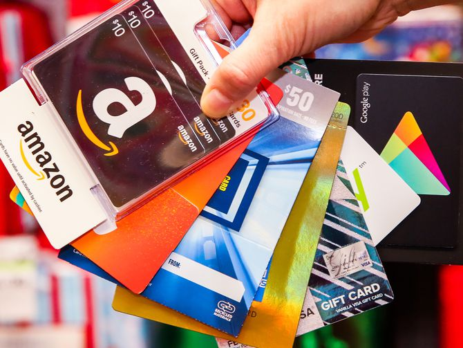 Christmas Gift Ideas- Gift Cards