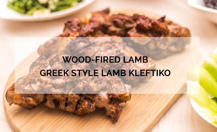 Wood-fired lamb Greek style lamb Kleftiko