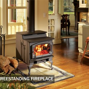 Some compact freestanding fireplace models